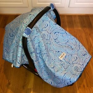 Blue Carseat Canopy **Like New**